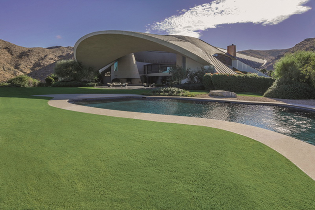 Bob Hope residence, designed by John Lautner.  2466 Southridge D